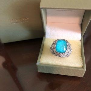 Judith Ripken Sterling Turquoise Doublet Ring